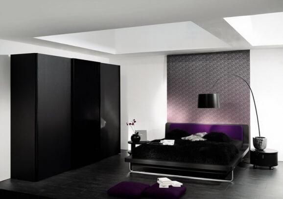 Шкаф-купе для спальни черный