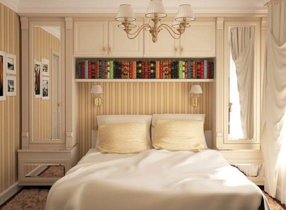 Шкаф платяной в интерьере спальной комнаты