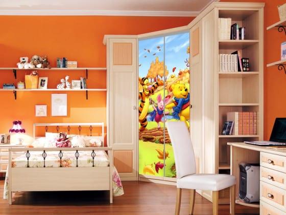шкаф-купе для детской с фотопечатью
