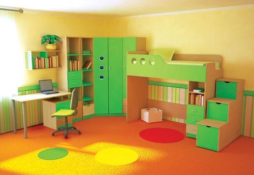 Стенка в детскую с кроватью и рабочим местом