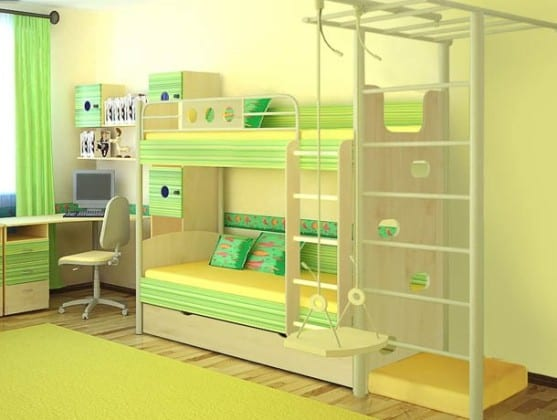 Стенка в детскую с двумя спальными местами
