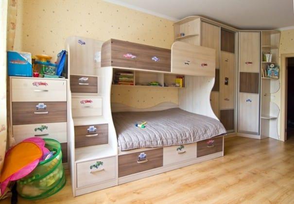 детские стенки с кроватями