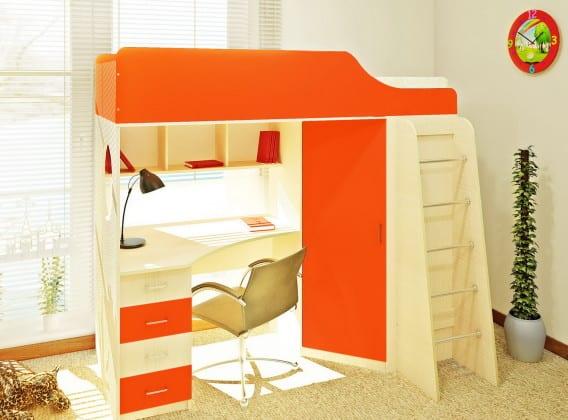 Детская стенка с кроватью и столом
