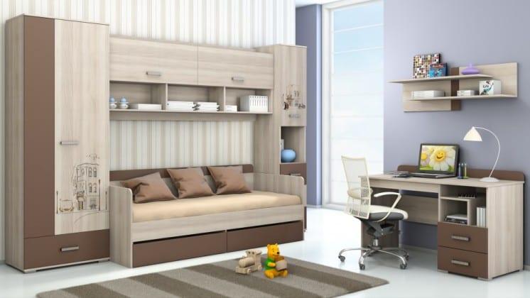 Стенка-кровать в детскую комнату