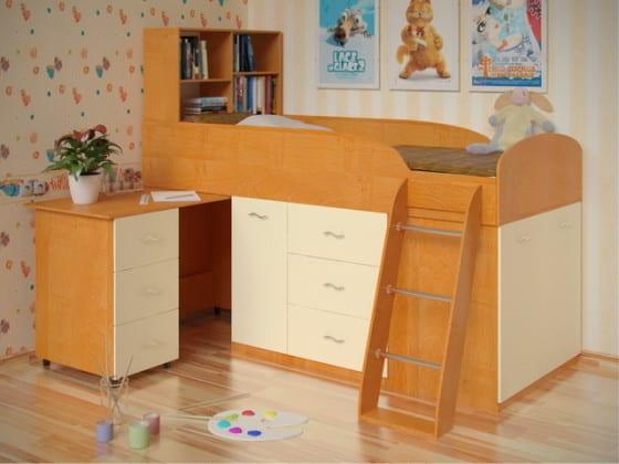 Детская стенка со столом, кроватью и шкафом