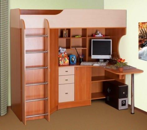 Детская стенка с кроватью, шкафом и столом