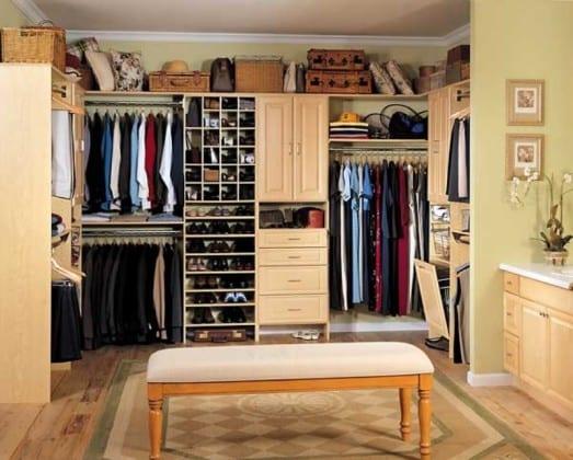 Спальные комнаты с гардеробной комнатой