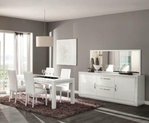 Белый современный комод в гостиную