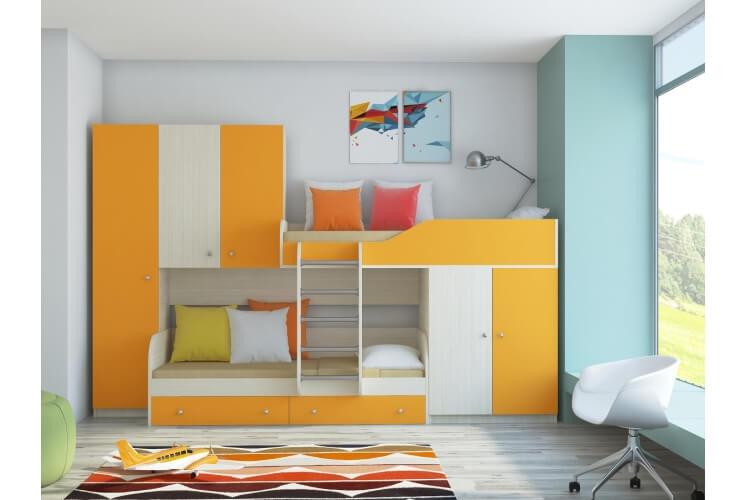 Кровать двухъярусная ``Лео``