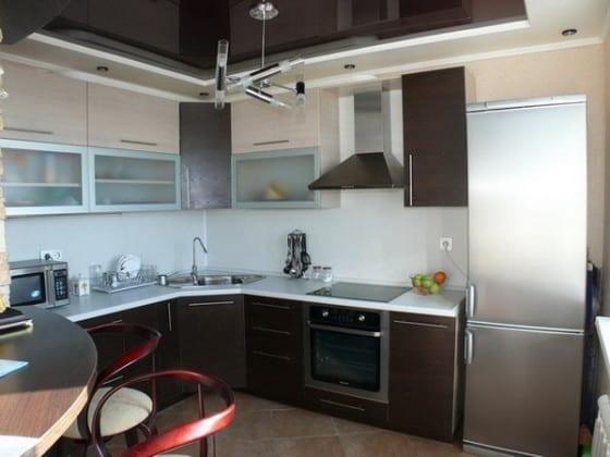 Навесные шкафы в кухню угловые