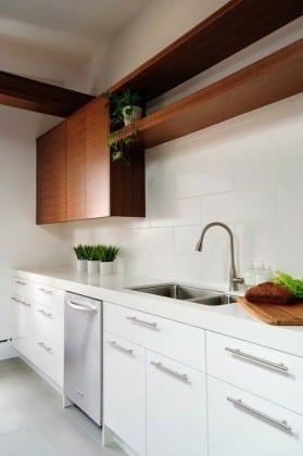 Навесные шкафы для кухни открытые