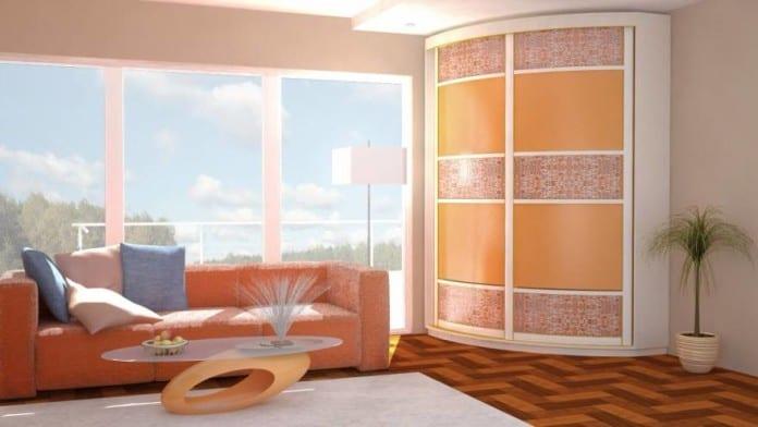 Шкафы-купе с радиусными дверями