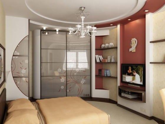 Стенка с угловым шкафом для спальни