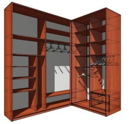 Внутренности шкафа-купе в прихожую