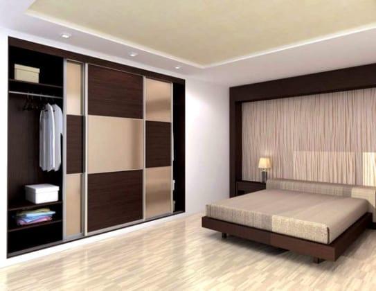 Встроенные шкафы-купе в спальню