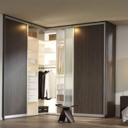 Виды угловых шкафов в спальню