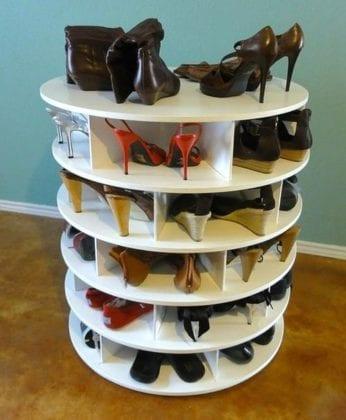 Обувница поворотная