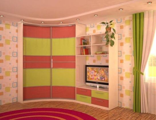 Угловой шкаф в детскую комнату