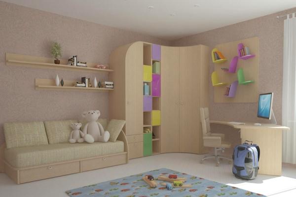 Угловой шкаф для детской