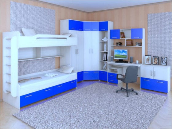 Шкафы угловые в детскую комнату