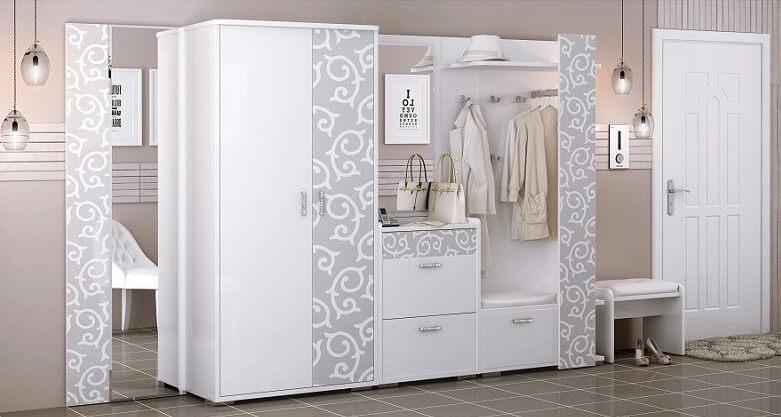 Шкаф белый в прихожую
