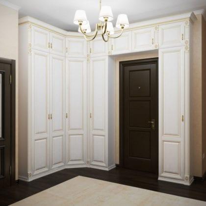 Шкаф в прихожую белый