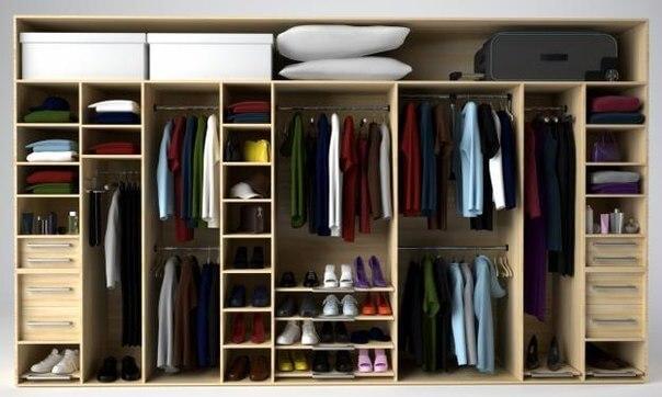 Наполнение гардеробных шкафов
