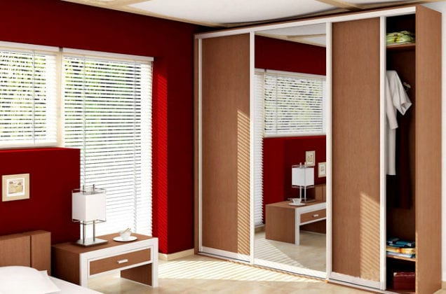 Шкафы-купе для спальни фотогалерея