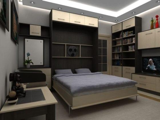Кровать встроенная в шкаф