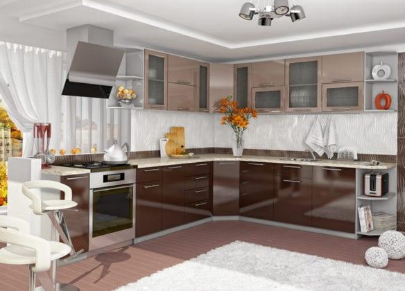 Нижний угловой шкаф кухни