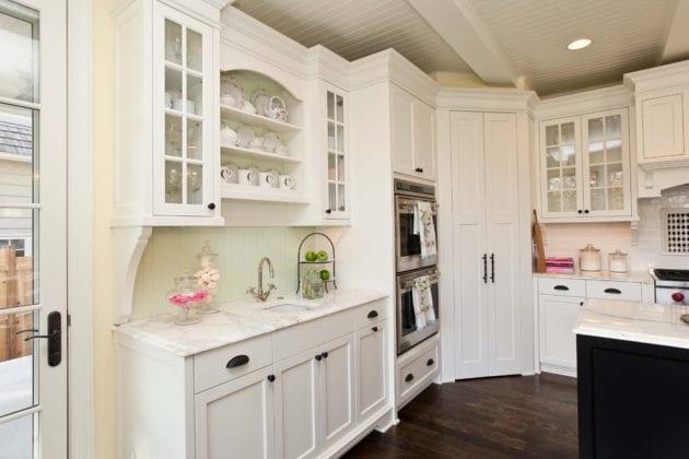 Угловой напольный шкаф для кухни