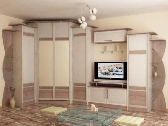 Шкафы угловые в гостиную