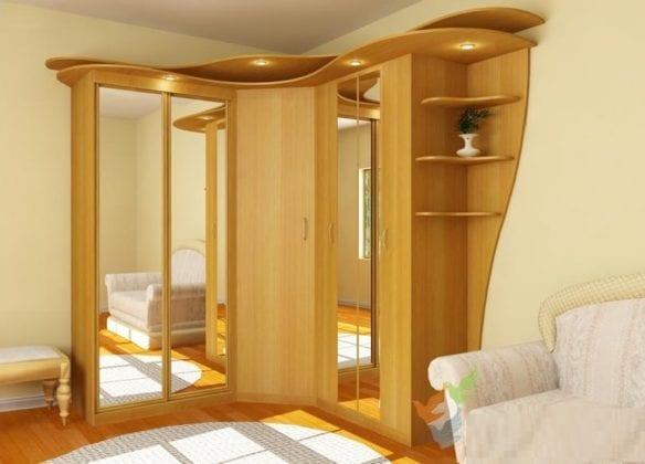 Шкафы-купе угловые в гостиную