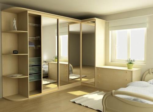 Угловые шкафы-купе в комнату
