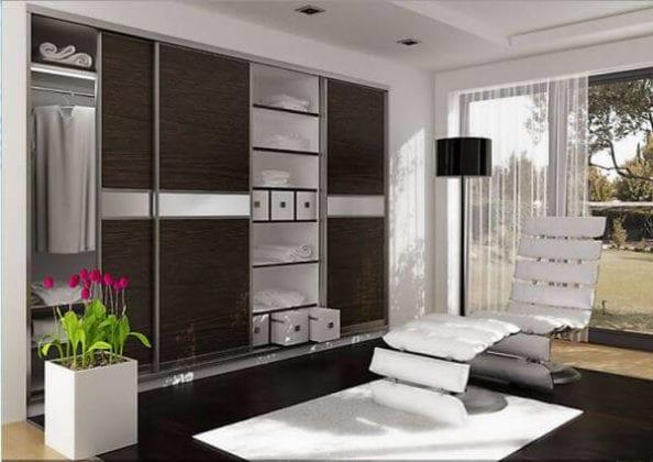 Шкафы в современном стиле для гостиной