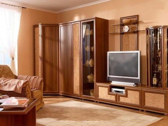 Стенка в гостиную с угловым шкафом