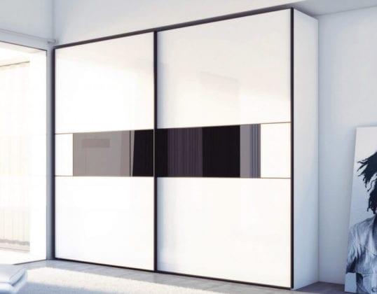 Шкафы-купе белые глянцевые