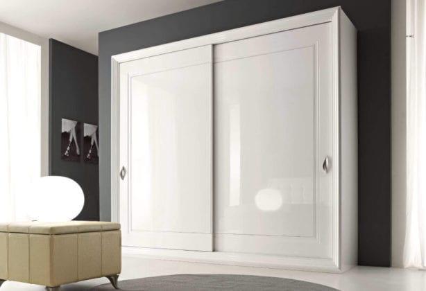 Шкаф-купе белый глянец
