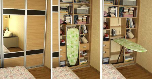 Гладильная доска встраиваемая в шкаф-купе