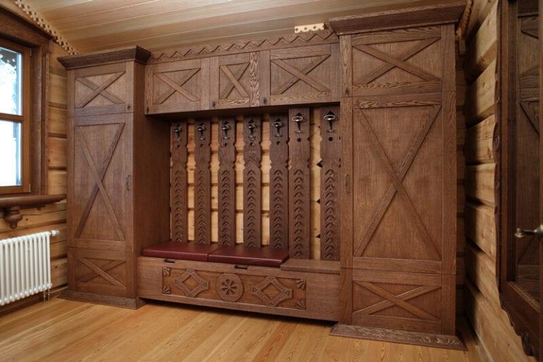 Дизайн деревянного шкафа