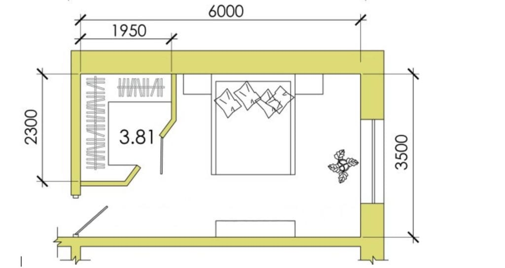 Проектирование гардеробной комнаты