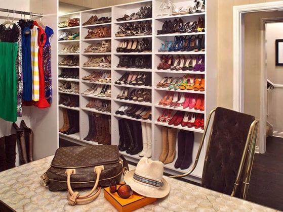 Стеллажи для обуви в гардеробную