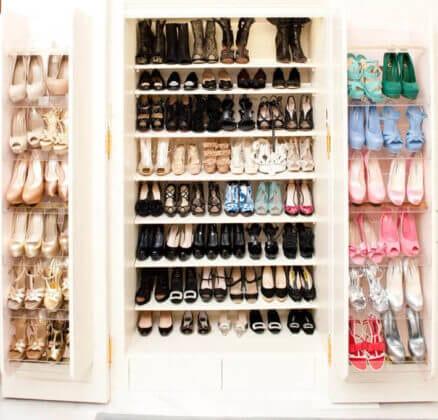 Стеллажи для обуви в гардеробной