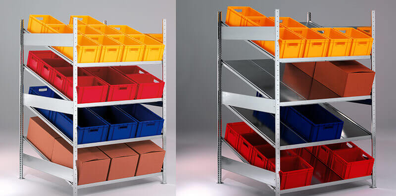Пластиковые ящики для стеллажей