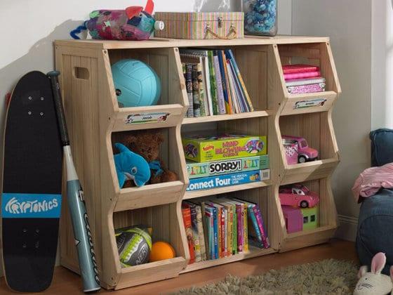 Детский стеллаж для книг и игрушек